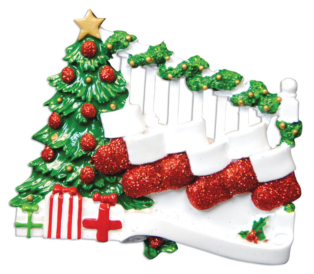 Bannister Family of 6 Christmas Ornament - €13.95 : Personalised ...