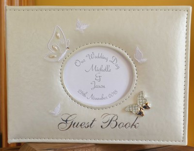 Wedding guest booksalbums personalised gifts ennis clare ireland butterfly wedding guest book negle Image collections