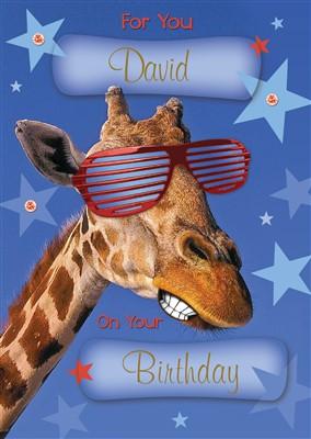 Birthday giraffe personalised card 699 personalised gifts birthday giraffe personalised card negle Choice Image