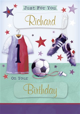 Birthday Sports Personalised Card A112 Personalised Birthday Card