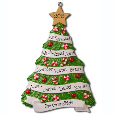 Xmas Tree Decorations Names Cute Gold Boy Angel