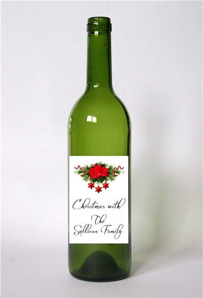 Personalised Christmas Wine Bottle Label