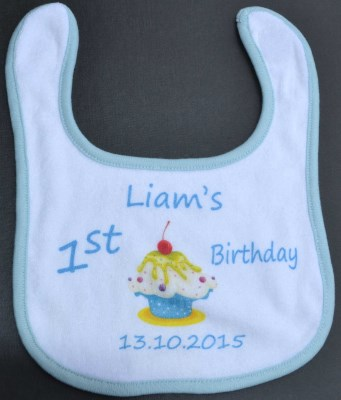 Towelling Baby Bibs 1st Birthday