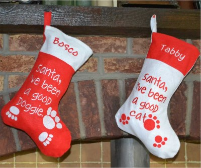 Christmas Stockings For Dogs.Good Dog And Cat Christmas Stockings Pet Christmas Stocking