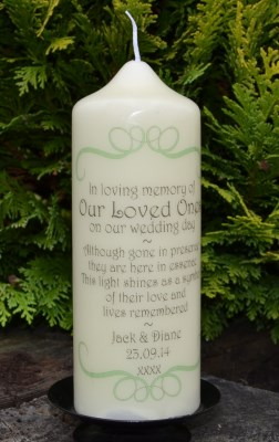 Wedding Candles : Personalised Gifts, Ennis Clare Ireland ...