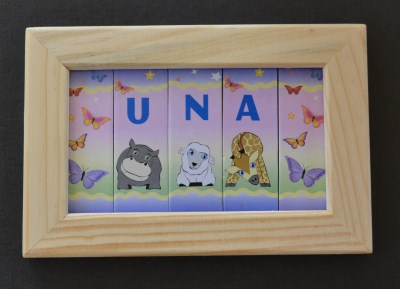 Name plaques personalised gifts ennis clare ireland name in a frame 5 spaces negle Images