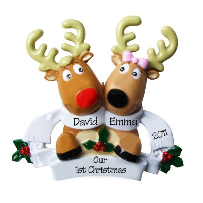 Couples & Wedding - Personalised Christmas Decorations : Ornaments