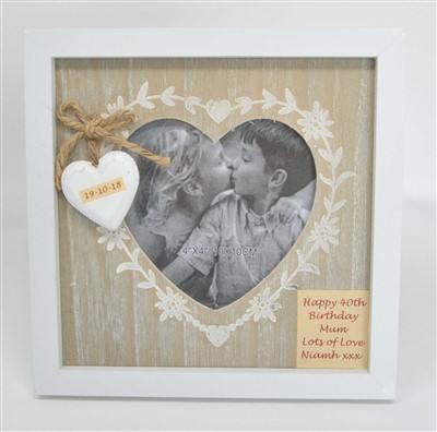 personalised baby photo frame