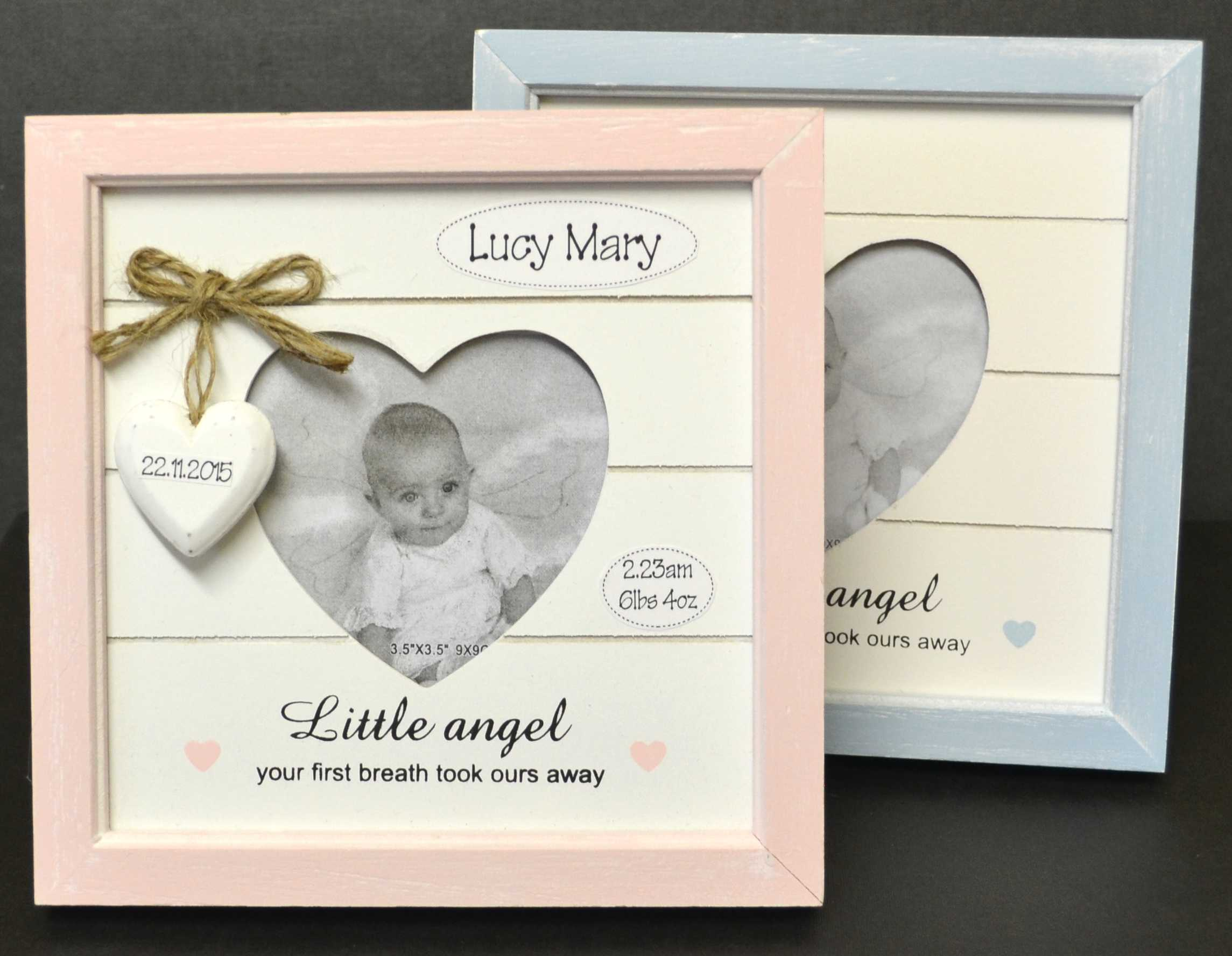 Personalised baby photo frame a little angel negle Image collections