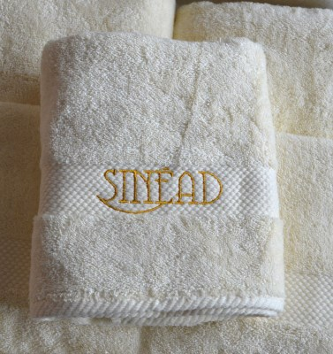 Towels personalised gifts ennis clare ireland personalised baby bath towel negle Images