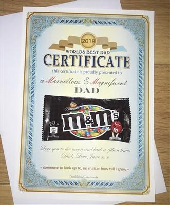 worlds best dad certificate 4 99 personalised gifts ennis