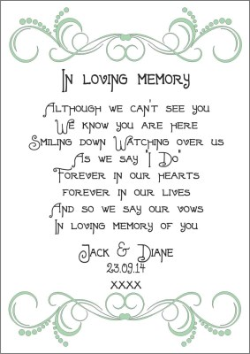 Wedding In Memory Candle - €14.99 : Personalised Gifts, Ennis ...