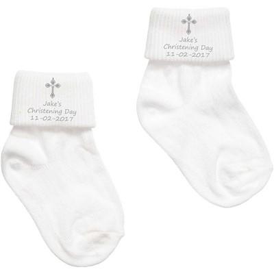Personalised christening gifts christening gift ideas christening socks negle Choice Image